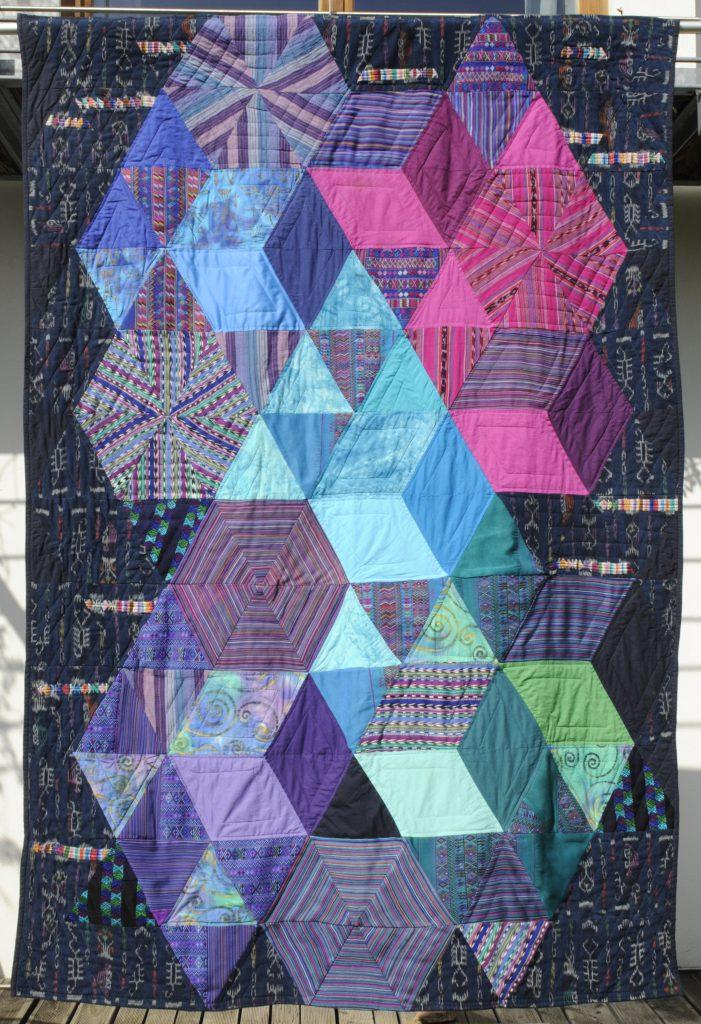 Quilt Dreiecke traditionelle Stoffe Guatemalas